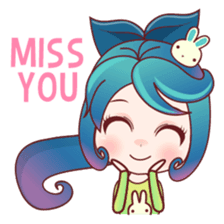 Mobile Girl Stickers messages sticker-2