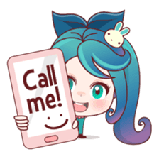 Mobile Girl Stickers messages sticker-0