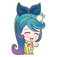 Mobile Girl Stickers messages sticker-6
