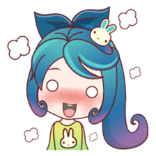 Mobile Girl Stickers messages sticker-4