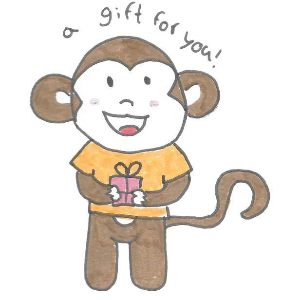 Vera's Monkey messages sticker-8