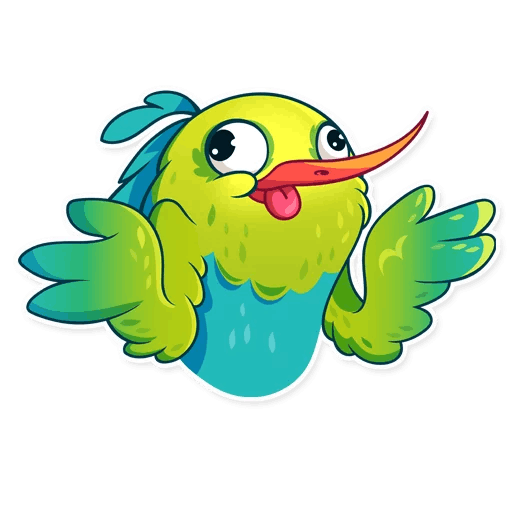 Hummingbird! Stickers messages sticker-6