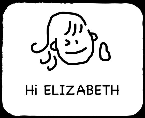 Emoji for ELIZABETH messages sticker-1