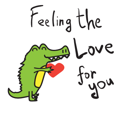 Golu the crocodile messages sticker-8