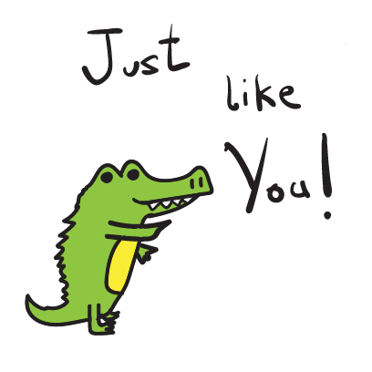 Golu the crocodile messages sticker-4