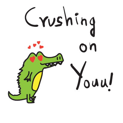 Golu the crocodile messages sticker-3