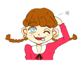 Two Adorable Teenage Girls Stickers messages sticker-11