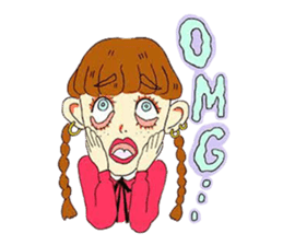 Two Adorable Teenage Girls Stickers messages sticker-3