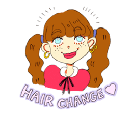 Two Adorable Teenage Girls Stickers messages sticker-1