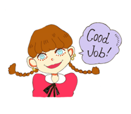 Two Adorable Teenage Girls Stickers messages sticker-9