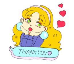 Two Adorable Teenage Girls Stickers messages sticker-8