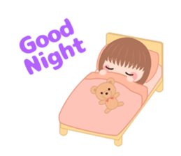 Sweet And Cute Girl Stickers messages sticker-4