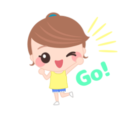 Sweet And Cute Girl Stickers messages sticker-2
