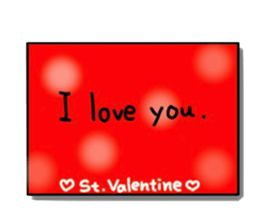 Valentine Day Cards Stickers Pack messages sticker-4