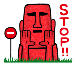 Funny MOAI Statue Stickers messages sticker-7