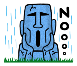 Funny MOAI Statue Stickers messages sticker-8
