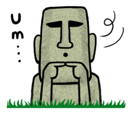 Funny MOAI Statue Stickers messages sticker-4