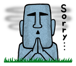 Funny MOAI Statue Stickers messages sticker-10