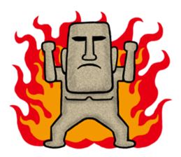 Funny MOAI Statue Stickers messages sticker-2