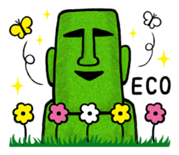 Funny MOAI Statue Stickers messages sticker-0