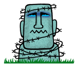 Funny MOAI Statue Stickers messages sticker-11