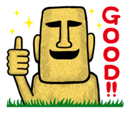 Funny MOAI Statue Stickers messages sticker-9