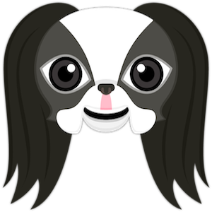 Black White Japanese Chin Stickers for iMessage messages sticker-0