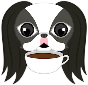 Black White Japanese Chin Stickers for iMessage messages sticker-9