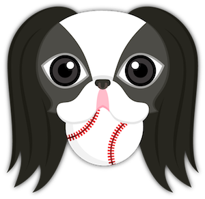 Black White Japanese Chin Stickers for iMessage messages sticker-1