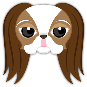 Brown White Japanese Chin messages sticker-0