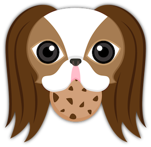Brown White Japanese Chin messages sticker-10