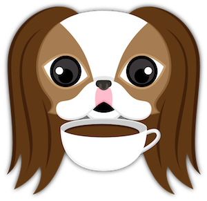 Brown White Japanese Chin messages sticker-9