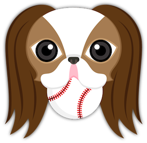 Brown White Japanese Chin messages sticker-1