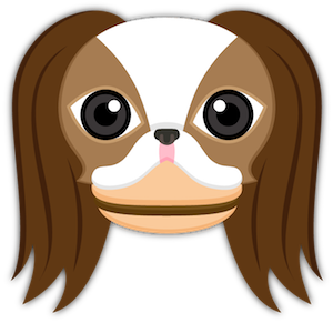 Brown White Japanese Chin messages sticker-3