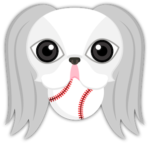 White Japanese Chin messages sticker-1