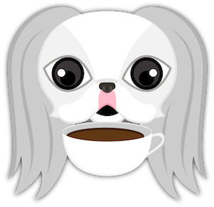 White Japanese Chin messages sticker-9