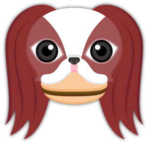 Red Sable Japanese Chin messages sticker-3