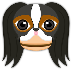 Tri Color Japanese Chin Stickers for iMessage messages sticker-3
