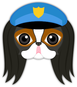Tri Color Japanese Chin Stickers for iMessage messages sticker-11