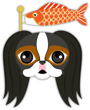 Tri Color Japanese Chin messages sticker-6