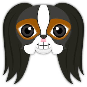 Tri Color Japanese Chin messages sticker-0