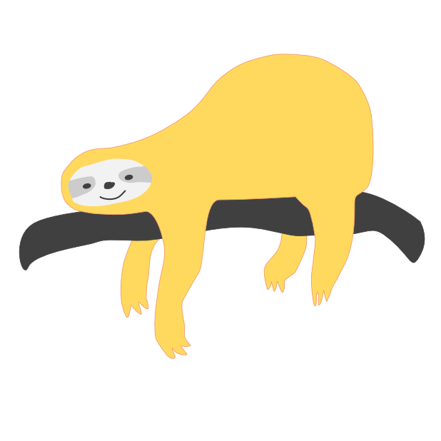 Mediocre Sloth messages sticker-0