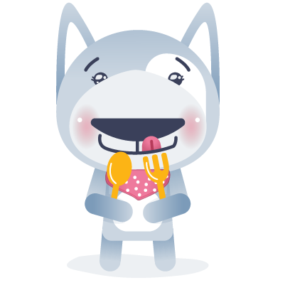 Wolfy the dog sticker pack messages sticker 3