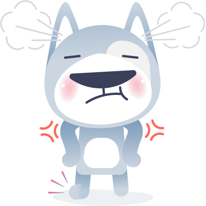 Wolfy The Dog - Sticker Pack messages sticker-6