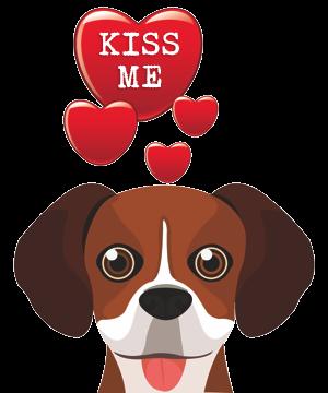Valentine Dogs messages sticker-4