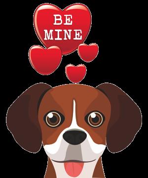 Valentine Dogs messages sticker-1