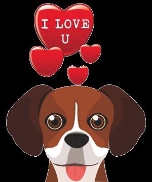 Valentine Dogs messages sticker-3