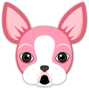 Valentine's Day Boston Terrier messages sticker-0