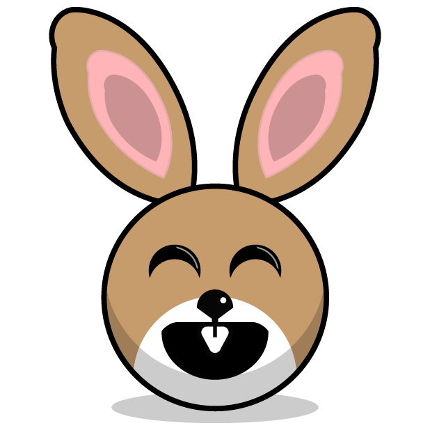 Hunny Bunnys Stickers - Rabbit Emoji Meme messages sticker-4
