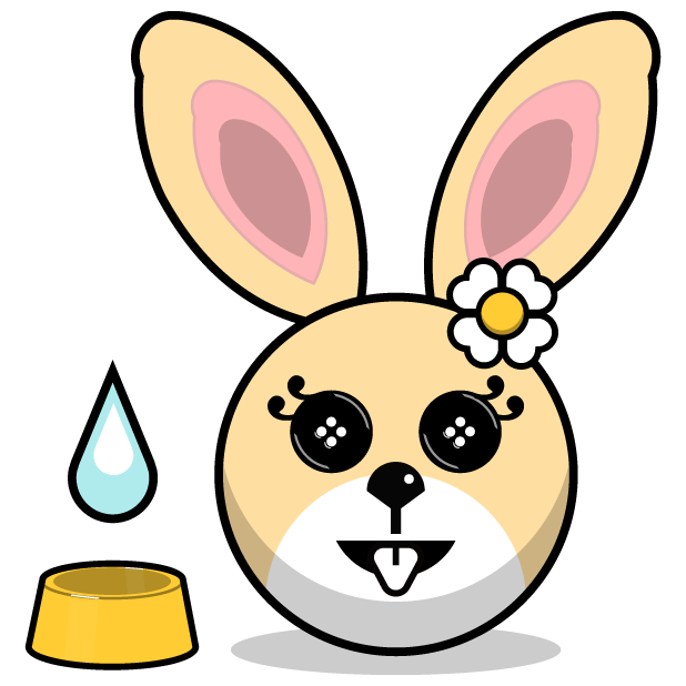 Hunny Bunnys Stickers - Rabbit Emoji Meme messages sticker-7